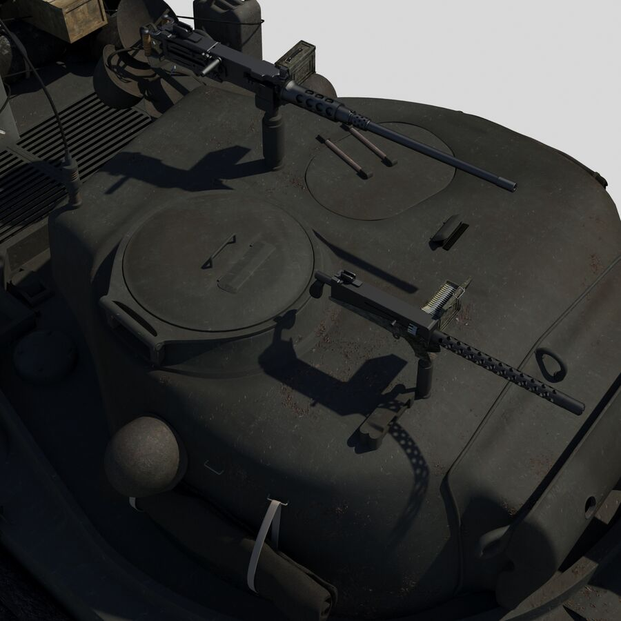 Sherman Tank Fury royalty-free 3d model - Preview no. 9