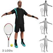 Tenisista 1 LODs 3d model