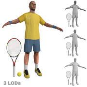 Tenisista 2 LODs 3d model