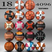 Basketball ball Set 18 3d model