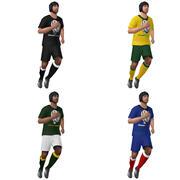Игроки в регби LOD1 Rigged 3d model