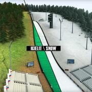 跳台滑雪的高细节 3d model
