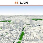 Mailänder Stadt abgeschlossen 3d model