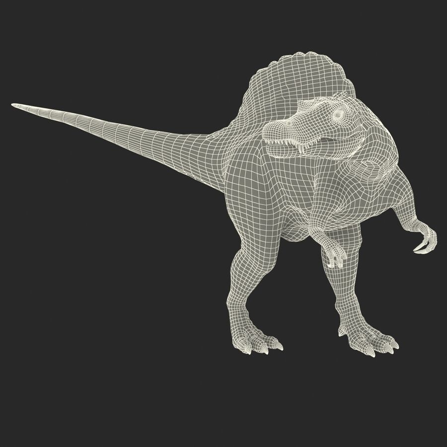 Spinosaurus Rigged royalty-free 3d model - Preview no. 37