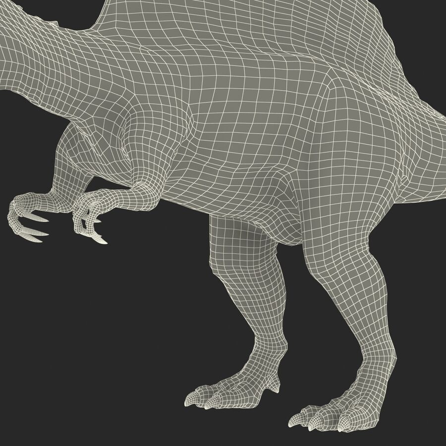 Spinosaurus Rigged royalty-free 3d model - Preview no. 36