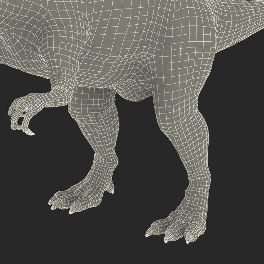 Spinosaurus Rigged royalty-free 3d model - Preview no. 31