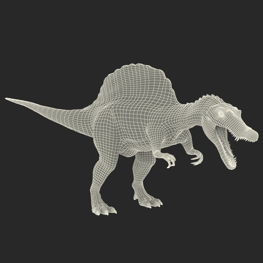 Spinosaurus Rigged royalty-free 3d model - Preview no. 42