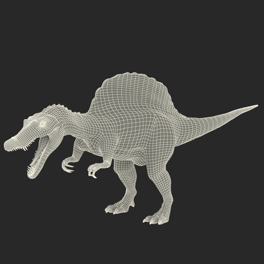 Spinosaurus Rigged royalty-free 3d model - Preview no. 43