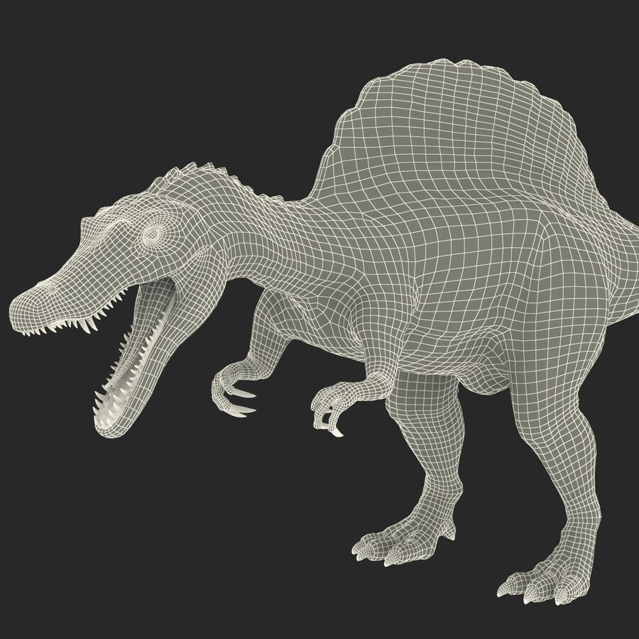 Spinosaurus Rigged royalty-free 3d model - Preview no. 26