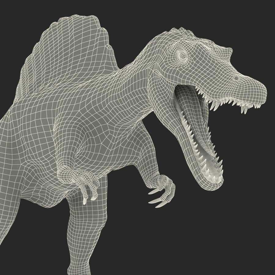 Spinosaurus Rigged royalty-free 3d model - Preview no. 30