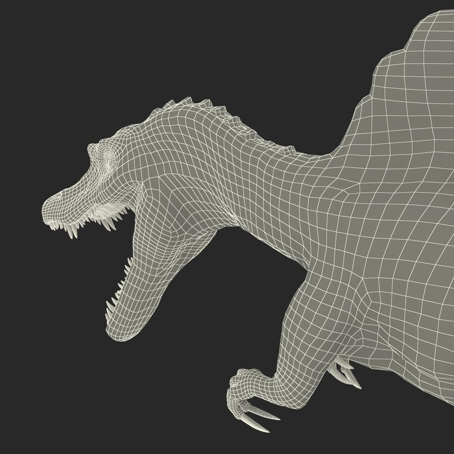 Spinosaurus Rigged royalty-free 3d model - Preview no. 33