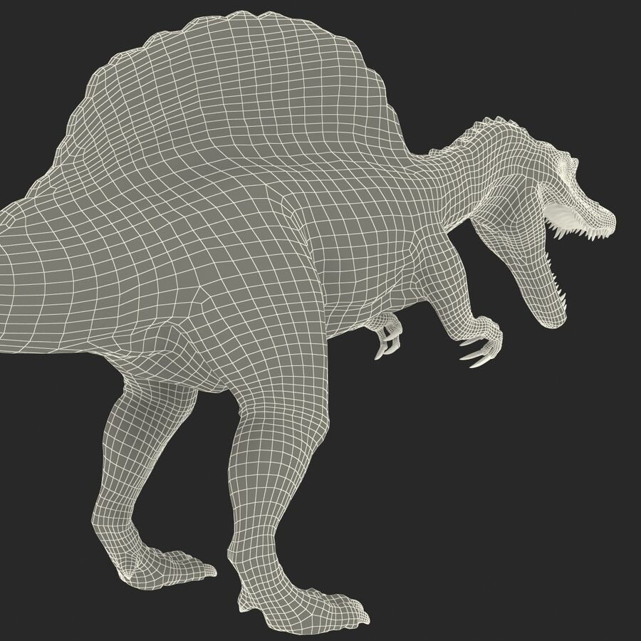 Spinosaurus Rigged royalty-free 3d model - Preview no. 27