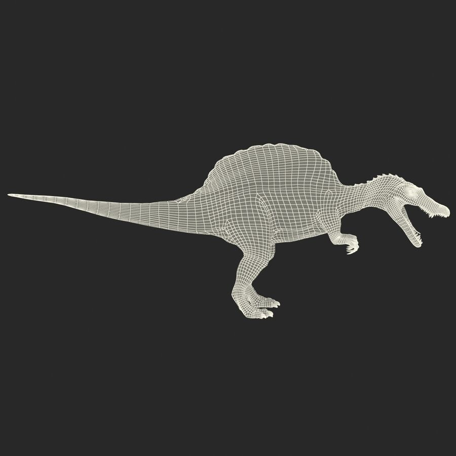 Spinosaurus Rigged royalty-free 3d model - Preview no. 25