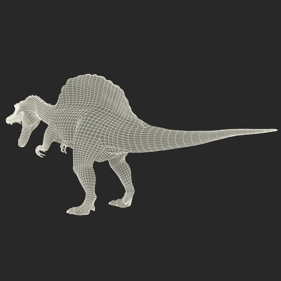 Spinosaurus Rigged royalty-free 3d model - Preview no. 45