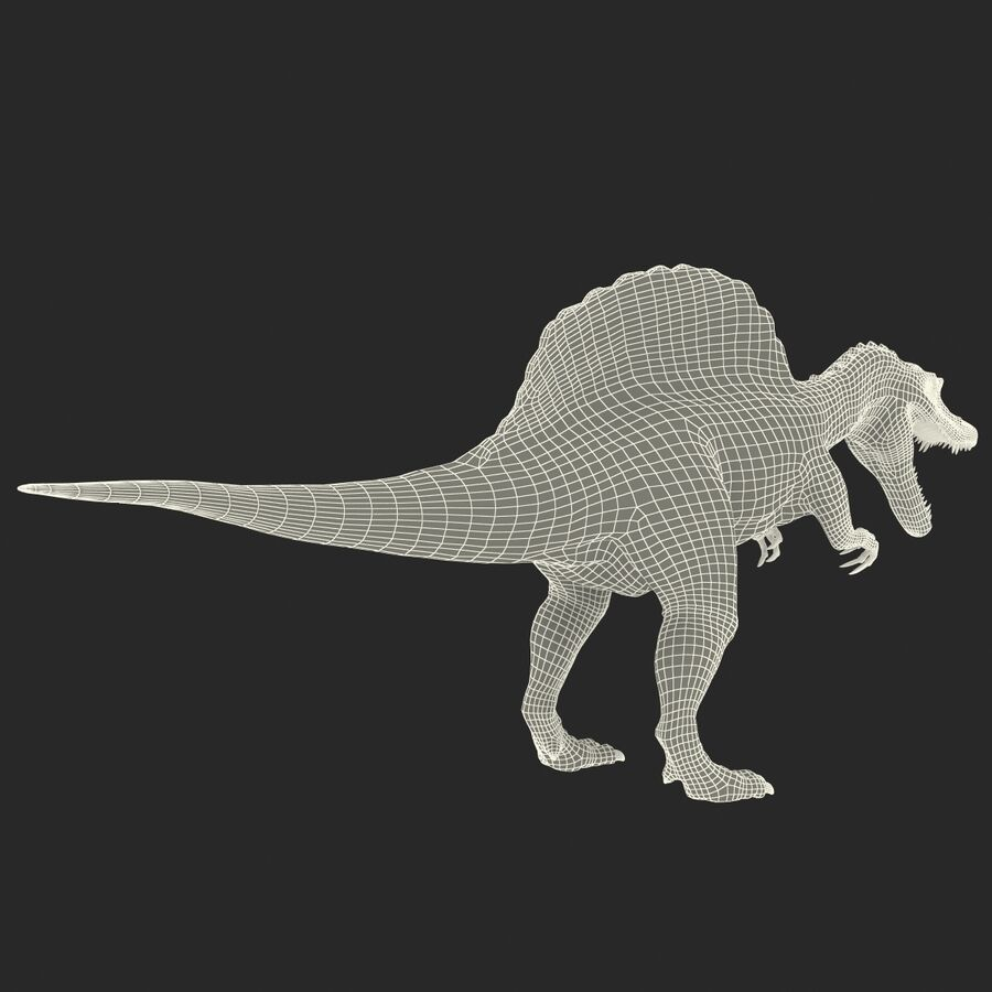 Spinosaurus Rigged royalty-free 3d model - Preview no. 44