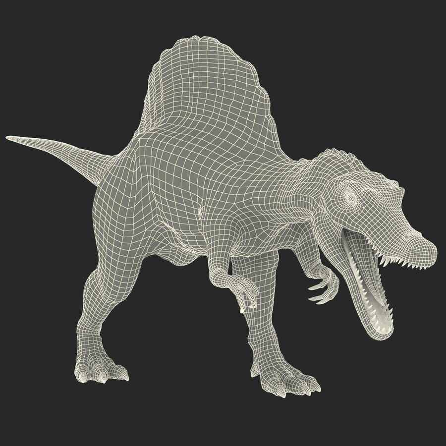 Spinosaurus Rigged royalty-free 3d model - Preview no. 38