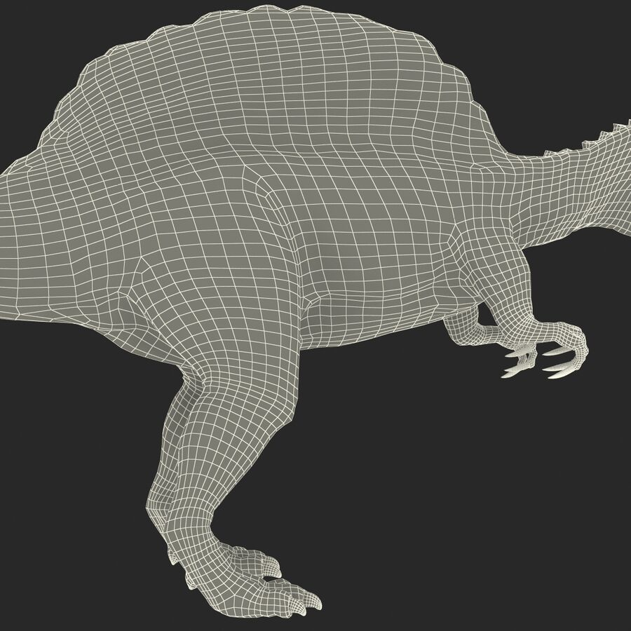 Spinosaurus Rigged royalty-free 3d model - Preview no. 46
