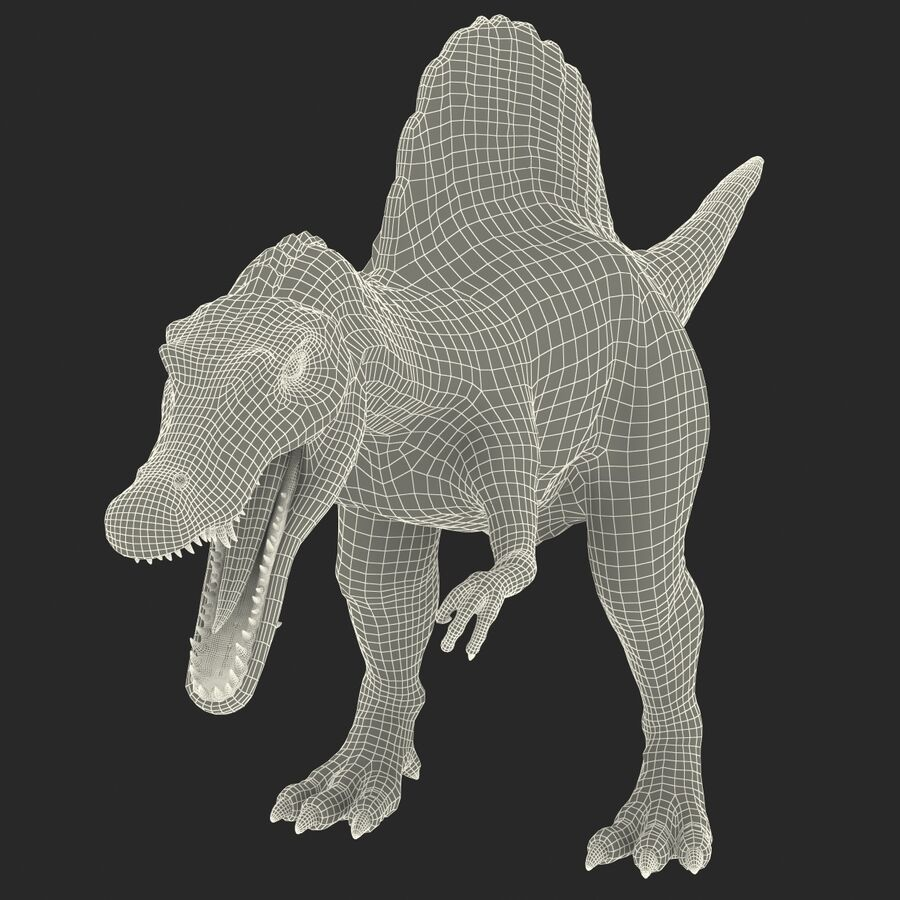 Spinosaurus Rigged royalty-free 3d model - Preview no. 39