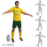 Rugby Player 2 LODs 3d model