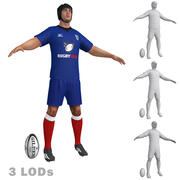 Rugby Player 4 LODs 3d model