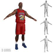 Koszykarz 1 LODs 3d model