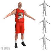 Koszykarz 4 LODs 3d model