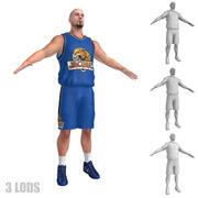 Koszykarz 5 LODs 3d model