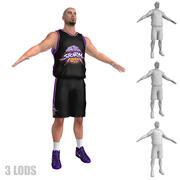 Koszykarz 6 LODs 3d model