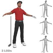Golfista 1 LODs 3d model