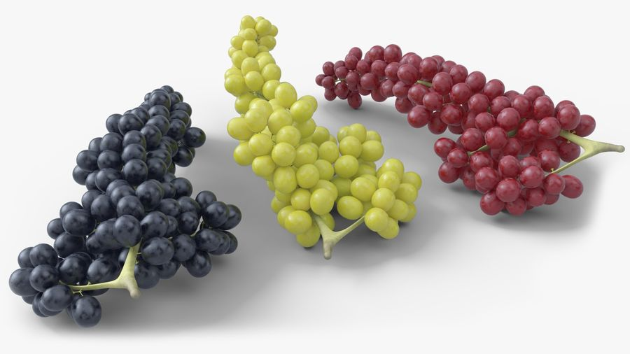 Realistic Grapes royalty-free 3d model - Preview no. 1