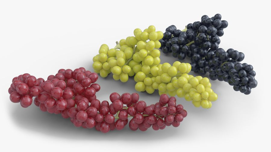 Realistic Grapes royalty-free 3d model - Preview no. 3