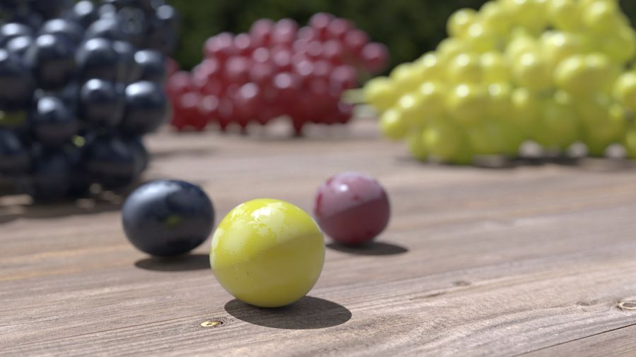Realistic Grapes royalty-free 3d model - Preview no. 29