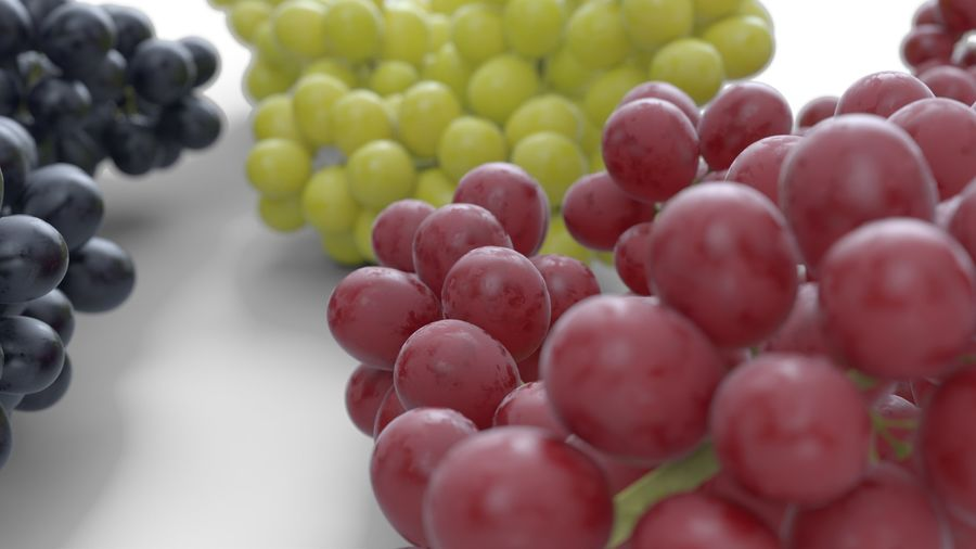Realistic Grapes royalty-free 3d model - Preview no. 12