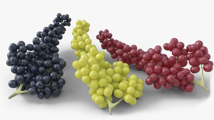 Realistic Grapes royalty-free 3d model - Preview no. 2