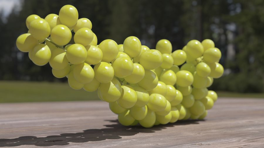 Realistic Grapes royalty-free 3d model - Preview no. 21