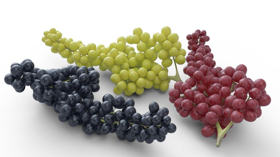 Realistic Grapes royalty-free 3d model - Preview no. 5
