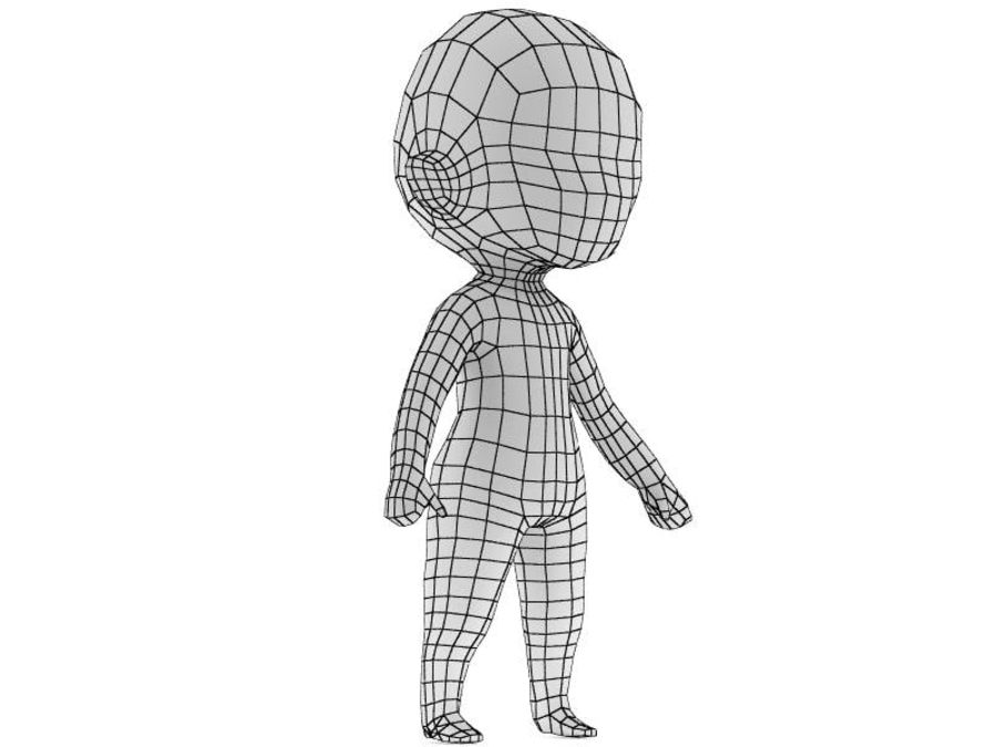 Chibi Base Mesh royalty-free 3d model - Preview no. 2