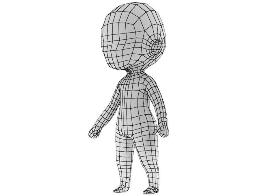 Chibi Base Mesh royalty-free 3d model - Preview no. 1
