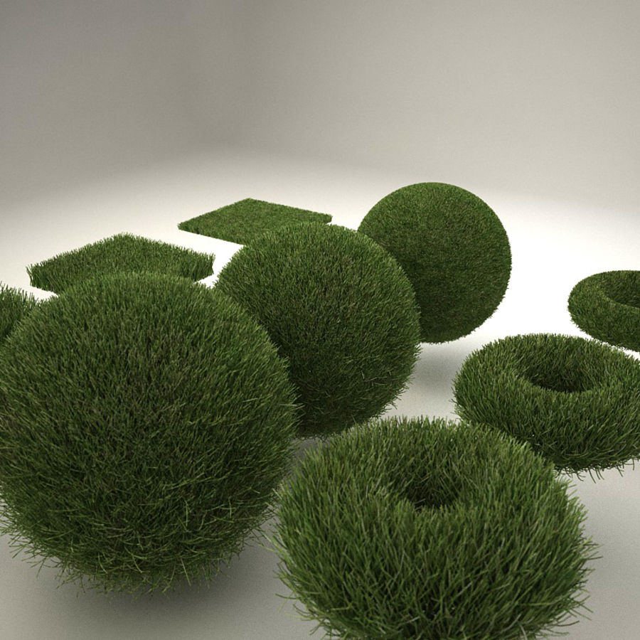 C4D realistic grass royalty-free 3d model - Preview no. 3