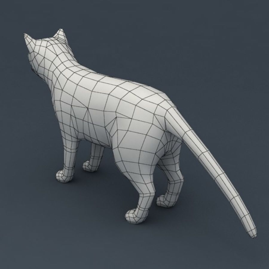 Red cat rigged model royalty-free 3d model - Preview no. 8