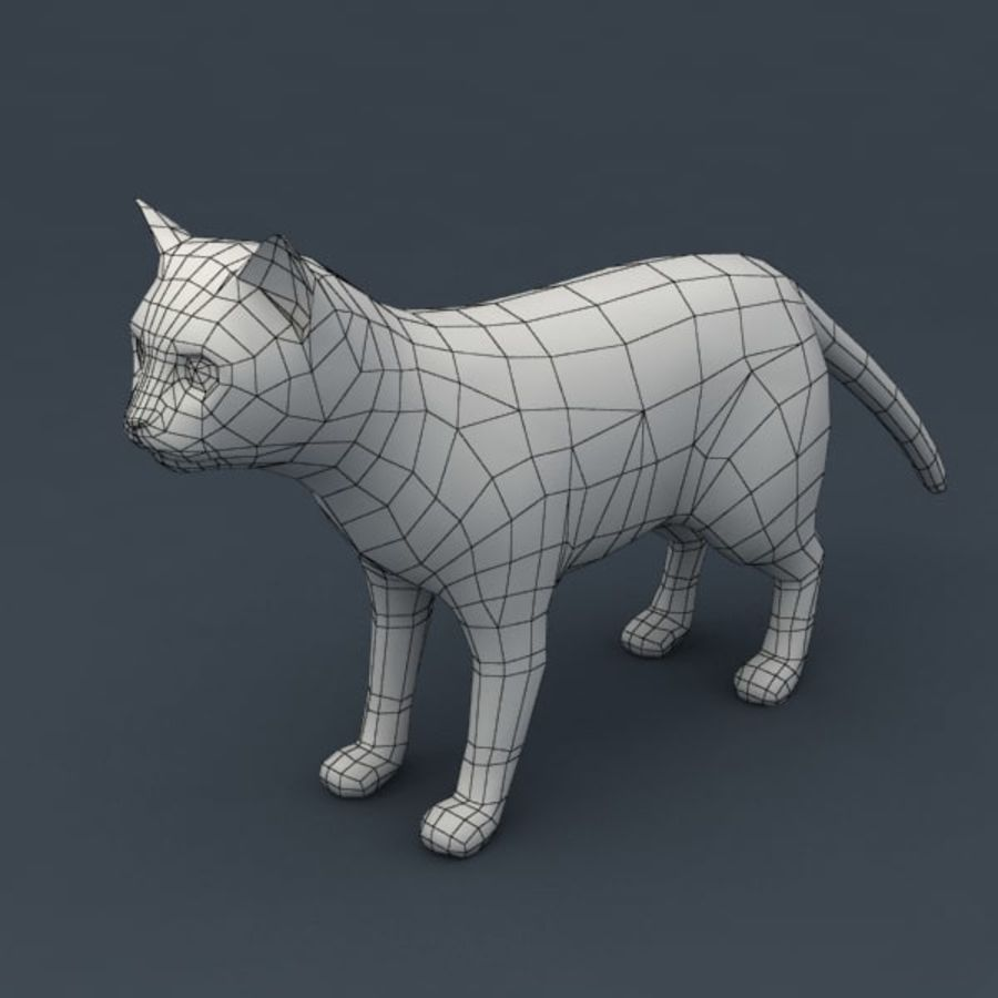 Red cat rigged model royalty-free 3d model - Preview no. 7