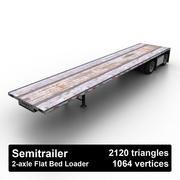 Semitrailer Flat Bed Loader 3d model