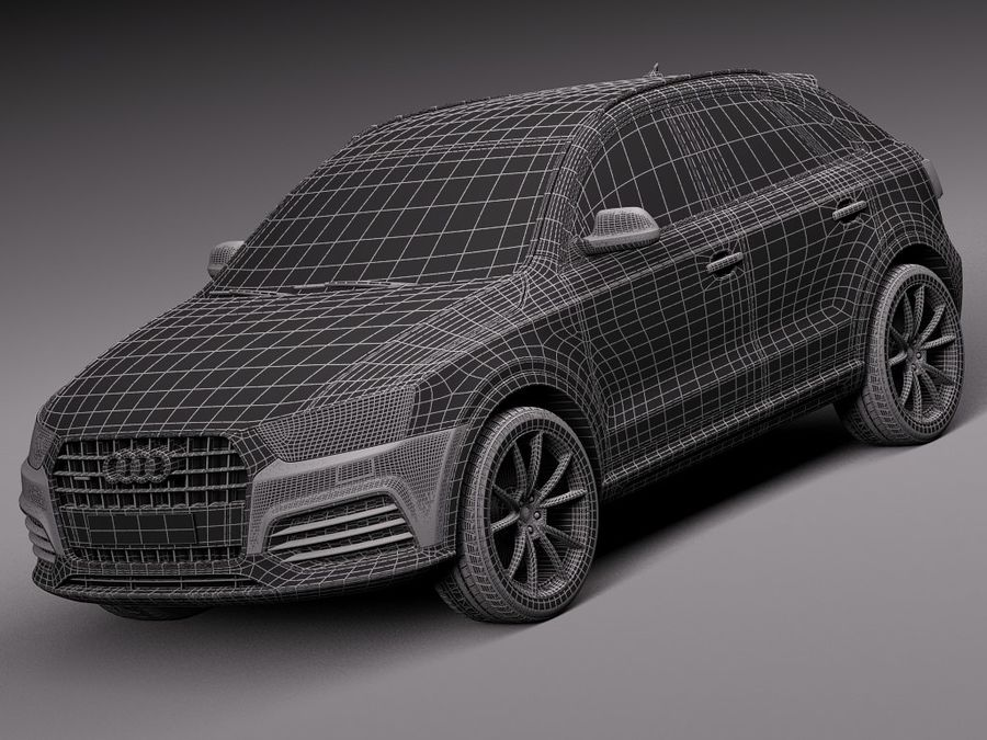 Audi Q3 2015 royalty-free 3d model - Preview no. 15