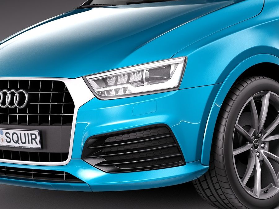 Audi Q3 2015 royalty-free 3d model - Preview no. 1