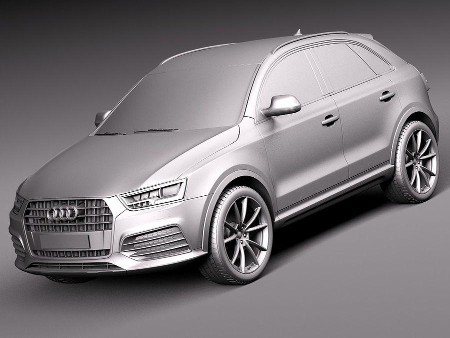 Audi Q3 2015 royalty-free 3d model - Preview no. 9