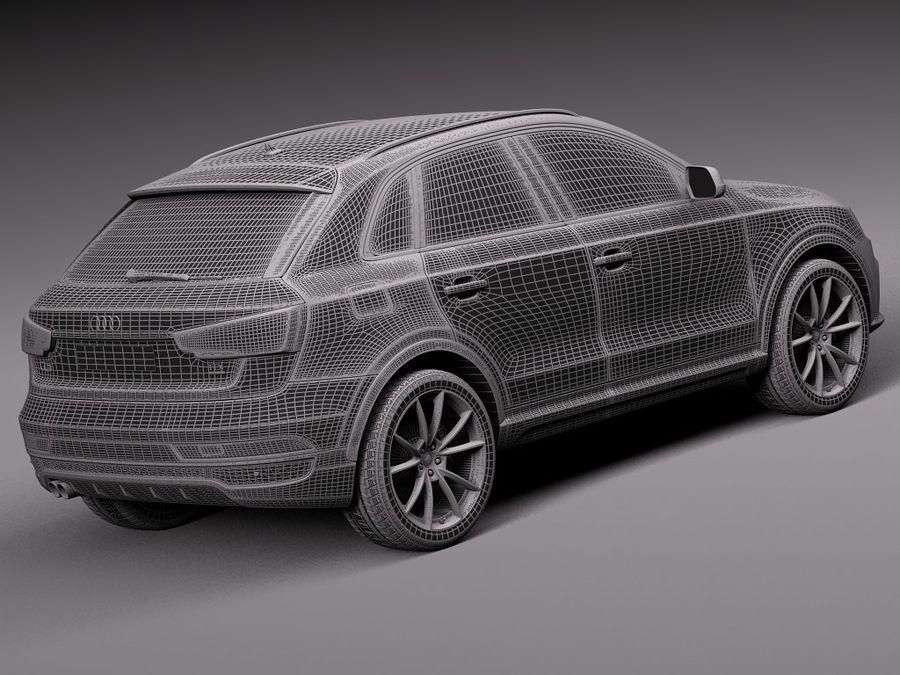 Audi Q3 2015 royalty-free 3d model - Preview no. 14
