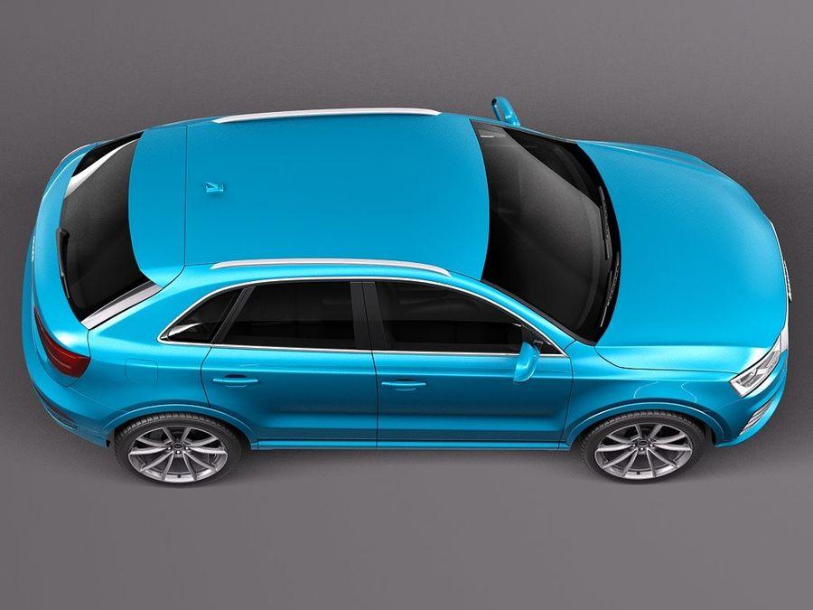 Audi Q3 2015 royalty-free 3d model - Preview no. 8