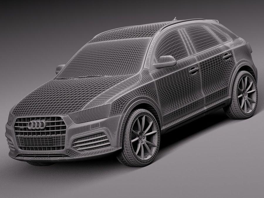 Audi Q3 2015 royalty-free 3d model - Preview no. 13