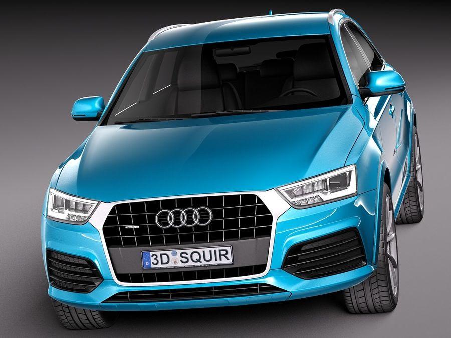 Audi Q3 2015 royalty-free 3d model - Preview no. 3