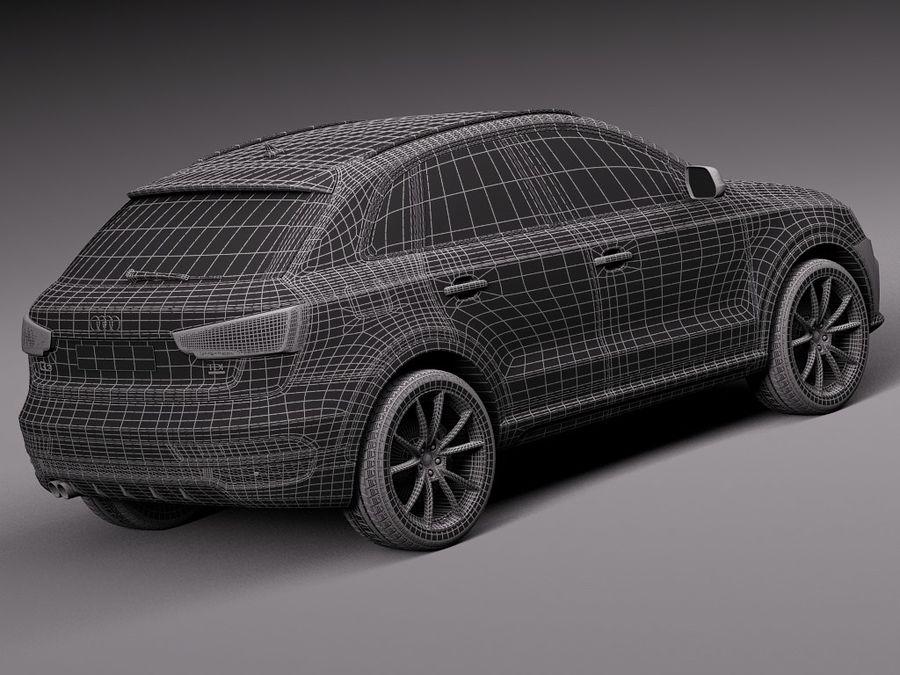 Audi Q3 2015 royalty-free 3d model - Preview no. 16